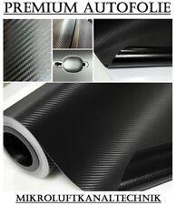 (4,34€/m²) 1000 x 152cm 15,2m² Schwarz 3D Carbon Autofolie Luftkanäle blasenfrei