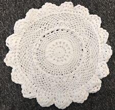 "12 PCS 10"" Vintage Handmade Round Crochet Doily Doilies Cup Mat Coaster - White"