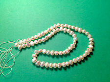 70 count pearls white new 3X String of freshwater blister pearls