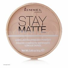 RIMMEL LONDON STAY MATTE PRESSED POWDER 001 TRANPARENT NEW