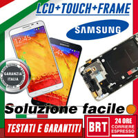 DISPLAY LCD+TOUCH SCREEN+FRAME ORIG! SAMSUNG GALAXY NOTE 3 NEO SM-N7505 SCHERMO!