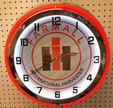 "18"" FARMALL International Harvester IH Sign Double Neon Wall Clock"