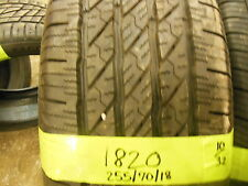 One Used Michelin LTX A/S  255 70 18, P255/70/18, 225/7018  10/32 112T