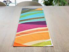 Bunte Marimekko Stoff Tischläufer, Handarbeit abstrakt Baumwolle Tischdecke