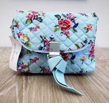 VERA BRADLEY RFID Mini Crossbody Handbag Blue Floral Print 23015-L83