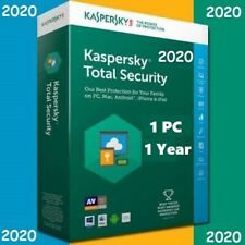 Kaspersky Total Security 1 Device | 2020 /360 +  Days | Download | Code Key Only