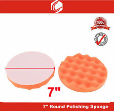 "7"" Car Polishing & Waxing Single Side Wave Texture Sponge Pad"