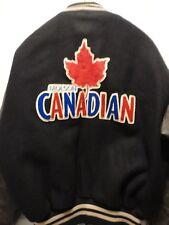 Vintage MOLSON CANADIAN ROOTS Leather Melton Varsity Letterman Jacket XL CANADA