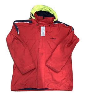 henri lloyd TP1 Sailing Jacket Yacht Waterproof Rain Coat Red Reflective XL