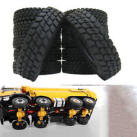 4 PCS Rubber Tires Tyres For Tamiya 1:14 Tractor Truck Trailer Climbing Car