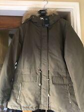 marks and spencer 16 Parka Coat Jacket Khaki Bnwt Rrp £75
