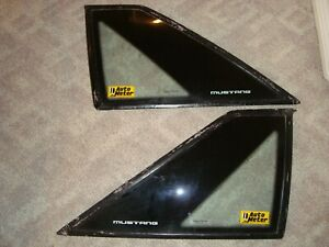 Rare Ford Mustang Fox Body Quarter Windows Set of 2 1987-93  Cobra