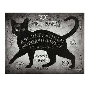 THE SPIRIT BOARD ALCHEMY SMALL GOTHIC CANVAS PICTURE ART PRINT BLACK CAT OUIJA