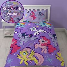 OFFICIEL My Little Pony Cinéma Set Housse de couette simple réversible Rotatif