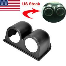 2 In Universal Two Dual Gauge Meter Holder Cup Dash Pillar Mount Pod Plastic