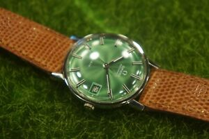 OMEGA Geneve Green Dial Men's vintage Watch / AUTOMATIC CALIBRE 565