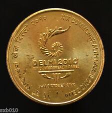India 5 Rupees 2010. km391. 19th Commonwealth Games - Delhi 2010. UNC. 1PCS