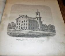 VINTAGE 1866  BATTENKILL KNITTING MILL PICTURE UNION VILLAGE NY WASHINGTON CO