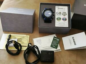 casio wsd-f30-bu pro trek gps smart outdoor watch like a new best price