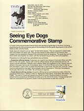 SEEING EYE DOGS - 1787 -  SOUVENIR PAGE #79-10 - 1979