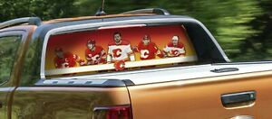 Calgary Flames Rear Window Graphic Art Decal NHL Truck car vinyl custom