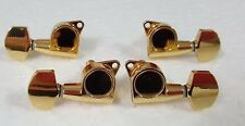 Ukulele Golden Color Tuners Machine Heads Metal Buttons 4p 333UG-M11
