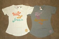 2 AGNES & DORA T-Shirt Favorite Tee XXS Wild & Free Let the Sunshine In Graphic