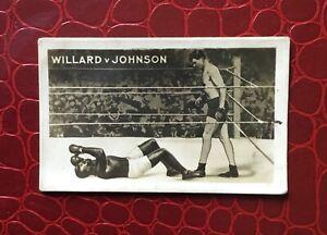 FAMOUS KNOCKOUTS - 'The Rocket' 1923 TRADE CARD - No 11 Willard - Johnson
