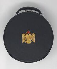 New Scottish Rite Cap Case In Black with Emblem