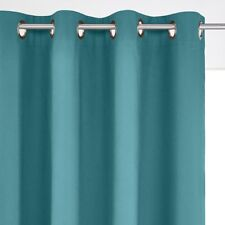 SCENARIO Cotton Blackout Curtain with Eyelet Header in Teal - 350cm drop RRP £52