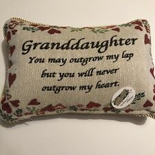 Colorful Granddaughter & Sentiment Tapestry Throw Pillow w/ Zipper