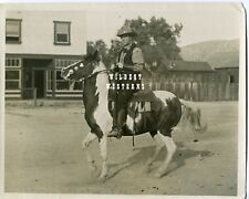 Early VINTAGE Original Photo WILLIAM S. HART horseback HORSE Western Cowboy WOW