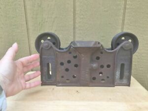 Porter Reversible Adjustable Wood Track Hay Trolley Carrier Pat 1886 Ottawa IL