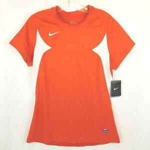 Nike Dri-Fit Soccer Jersey Women's Size M Activewear Running Shirt, Orange, NWT