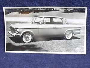 """1962 Studebaker Lark Daytona Hardtop ~ Vintage B&W 3 1/2"""" x 6 1/4"""" Photograph"""