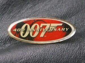 JAMES BOND 007 Pin Badge 40TH ANNIVERSARY