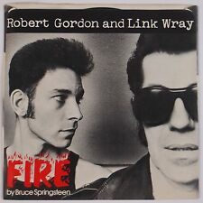 ROBERT GORDON & LINK WRAY: Fire USA Private Stock Bruce Springsteen 45 & PS NM