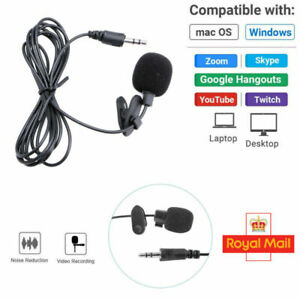 Mini Lavalier Clip-on Lapel Mic Microphone 3.5mm For Mobile Phone PC Recording
