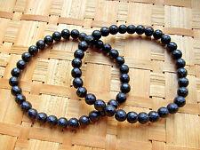 62-Bracelet onyx ou agate noire boules 6mms-Lithothérapie-soin par les cristaux