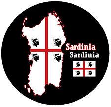 Sardaigne - Carte / DRAPEAU - Rond Nouveauté souvenir Aimant de réfrigérateur -