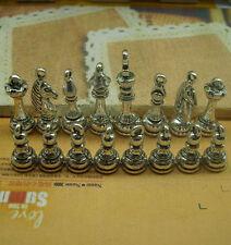 16pcs Antique silver copper lovely delicate international chess Charm Pendant