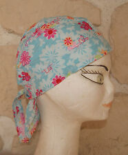 Chapeau bandana neuf ton bleu taille 53/55 cm marque Bruno Barthel