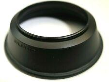 Olympus OM 28mm f3.5 Lens 49mm threaded Rubber Hood shade Genuine 35mm f2.8