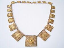 Altes Collier/Kette filigran Silber vergoldet geprüftes Silber 31,3 g/48,5 cm