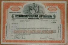 Lot 42 X ITT Domestic Shares 1960/1970er more than 100 shares