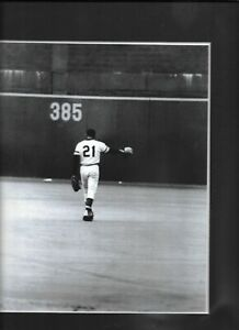 Roberto CLEMENTE matted photo Forbes Field Pittsburgh Pirates