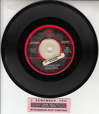 "FRANK IFIELD I Remember You 7"" 45 rpm vinyl record + juke box title strip"