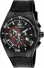 Technomarine Men's TM-116004 Black Carbon  Swiss Chronograph New 2017 Model