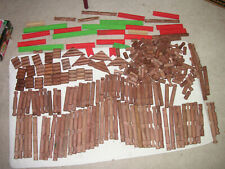 Large Lot of 285+ Vintage Lincoln Logs smooth Round wooden building toys