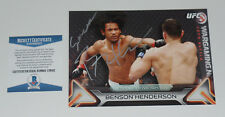 BENSON HENDERSON SIGNED AUTO'D UFC 2016 TOPPS KNOCKOUT 5X7 CARD #/49 BAS COA 144